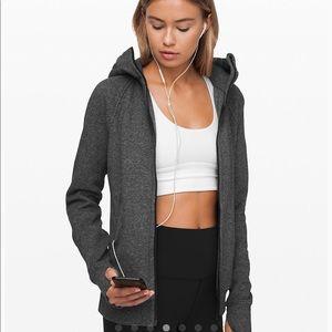 Grey lululemon scuba jacket